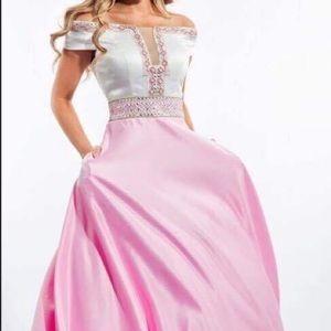 Rachel Allen pink/cream  dress Sz8 new w/o tags